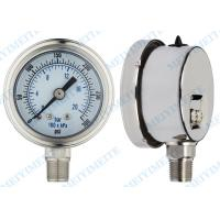 Precision Pressure Gauges : Oil filled precision pressure gauge small
