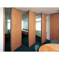 China Commercial Hard Cover Acoustic Fabric Sliding Partition Doors For Office / Conference Room on sale