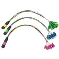 Quality MTP MPO cable to LC Fan Out Multimode 12 fibers MPO Fiber Optic Patch Cord wholesale