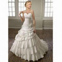 Quality A-line Taffeta Sweetheart Layer Wedding Dress/Bridal Gown wholesale