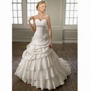 Quality A-line Taffeta Sweetheart Layer Wedding Dress/Bridal Gown wholesale