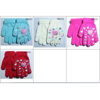 Quality kids' knitted gloves acylic gloves SK023-sk026 beautiful style children magic gloves wholesale
