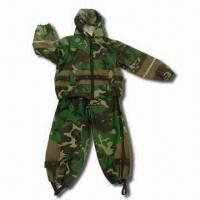 Quality Children's Rain Suit with Camouflage Rotary Printing wholesale