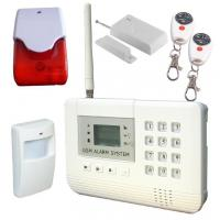 Dual network Wireless GSM home alarm system,  4 wired zones