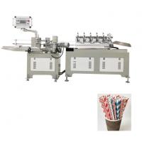 Cheap Disposable Paper Drinking 3 Color Straw Making Machine Fully Automatic for sale