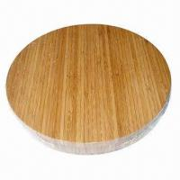 China Eco-friendly Round Bamboo Cutting Board with Elegant Vertical Grain, Suitable for Kitchen Use on sale