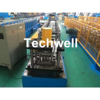 Quality GCr15 Steel Roller Guide Rail Cold Roll Forming Machine With Hydraulic Cutting wholesale