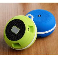 Round Sports Music Bluetooth Speaker Line In Audio Input With Carabiner