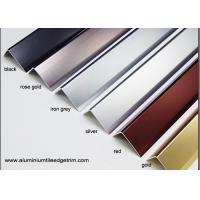 Buy cheap Anodized Effect Angle Shaped Aluminium Floor Trims For Home / Drywall / from wholesalers