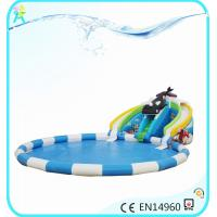 China water inflatables large inflatable slide with blower on sale