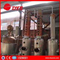 Quality Copper Whiskey Still Copper Brewery Equipment 100L-5000L SUS304 M anual wholesale