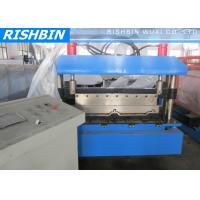 Quality Aluminum Steel Panel Boltless Roof Roll Forming Machinery 10 Stations wholesale