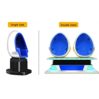 Quality 2 Person 9D Cinema Simulator / Electric System Virtual Reality Egg Chair wholesale