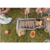 China Portable Barbecue Grill Wire Mesh , Outdoor Barbecue Grill Netting For Roast Fish on sale