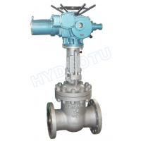 China PN 0.25 - 6.4 Mpa Electric/ Manual Flanged Gate Valve / Sluice Valve for Hydro Power Station on sale