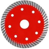 Quality Durable Turbo Wave Diamond Tile Saw Blade With Cooling Hole Red Color wholesale