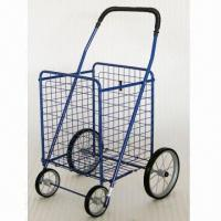 China Foldable Shopping Cart with Plastic Front and Metal Rear Wheel on sale