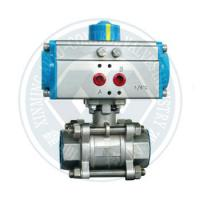 China butterfly valve ball valve with at series pneumatic rotary actuator on sale