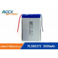 Quality 585372 3000mAh lithium polymer battery for digital products 3.7V with PCM protection wholesale