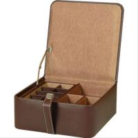 China Luxury tight wholesale leather wooden gift box with button on sale