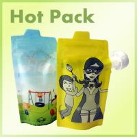 Buy cheap Colorful Reusable Squeezable Baby Stand Up Food Pouch Bags For Juice Beverage product