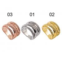 Quality Exquisite Craftsmanship 925 Sterling Silver Jewellery - Sterling Silver Polycyclic Ring With Three Colors wholesale