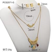 China Stainless Steel Gold Plated Jewelry Set / Women Fashion Jewelry Necklaces on sale