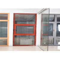 Quality Hidden Hinge Aluminium Glass Window Site Red Inside And Outside Windows wholesale