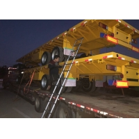 Quality 3X13 Tons FUWA Axles Flatbed Cargo Full Trailer wholesale