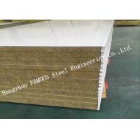Quality High Density Sound Insulation Rock Wool Sandwich Panels Fire Proof Wall Panel wholesale