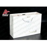Buy cheap Simple Style Custom Printed Bakery Bags , Ribbon Handle Monogrammed Paper Bags product
