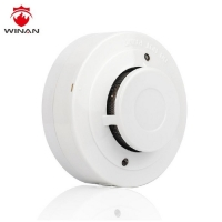 China Alkaline 9V Battery Fire Alarm Photoelectric Smoke Detector on sale