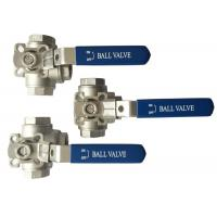 "Quality 1/2"" to 2"" Stainless Steel 304 316 flow Control ""T"" and ""L"" Type  3  way diverter ball valve wholesale"