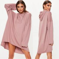 Quality Custom Rose Oversized Hoodie Printing Sweater Dress wholesale