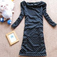 Quality Polka Dots Long Sleeve Sweatshirts , Womens Hooded Sweatshirts Above The Knees wholesale