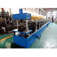 China Galvanized Quad Gutter Roll Forming Machine , Electric Control Gutter Rolling Machine on sale