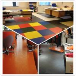 Quality 3W Anti Slip Indoor Office Interlocking Removable Plastic PVC Floorommg Tiles wholesale