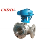 China PTFE Seat T Port Gear Operation SS 150LB 3 Way Ball Valve on sale