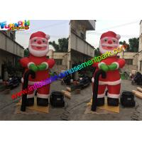 Quality 10 Feet Oxford Inflatable Santa Claus , Inflatable Father Christmas Balloons wholesale