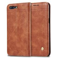 China Oneplus 5 Cell Phone Leather Wallet Case Book Cover With Retro Line Full Protection on sale