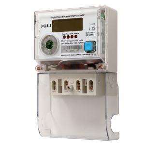 Single Phase Multifunction Energy Meter / Polycarbonate digital electronic energy meters