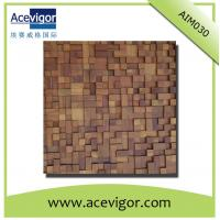 Quality Artistic wood mosaic tiles with uneven surface for wall decoration wholesale