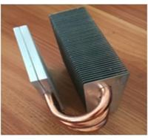 Quality OEM Fin Copper Heat Sink Customized Copper Pipe HeatSink For Passivite Surface Mount Device wholesale