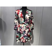 Quality Sexy Womens Floral Blouse , Floral Summer Dresses Deep V Neck BGW008 wholesale
