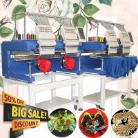 China Better than brother embroidery machine HO1502H 400*500mm cap t-shirt flat sequin hat 3d cheap 2 head embroidery machine on sale