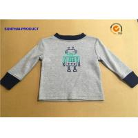 Quality 100% Cotton Children T Shirt Long Sleeve Round Neck Heather Gray SGS Certified wholesale