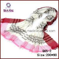 Quality Promotion Polyester Striped Shawl Scarf (Q05-2) wholesale