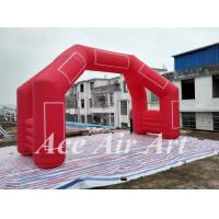 Quality custom 20' 4 legs inflatable door arch model with removable logo & blower for finish line in sport wholesale