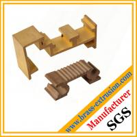 Quality gold color brass extruded profile sections for windows and doors wholesale