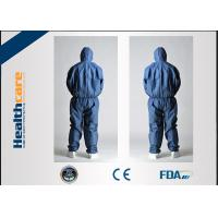 Quality CE Approved Disposable Protective Coveralls Nonwoven Suits White / Yellow / Blue Color wholesale